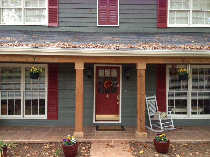 Cedar columns east cobb porch atlanta curb appeal for Post designs for front porch