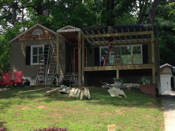 Atlanta Curb Appeal New Porch New Pergola Buckhead