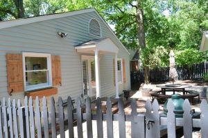 Atlanta Curb Appeal Back Porch Window Shutter Entry