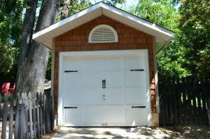 garage face update cedar shingles