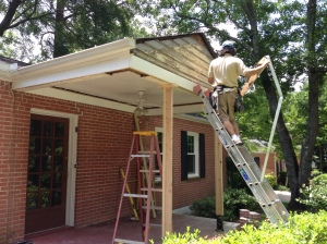 1950's bungalow updating front in Decatur, GA by Atlanta Curb Appeal