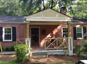 Curb Appeal in Decatur 1950's Bungalow exterior update