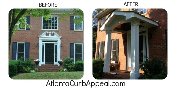 Atlanta Curb Appeal Portico Makeover