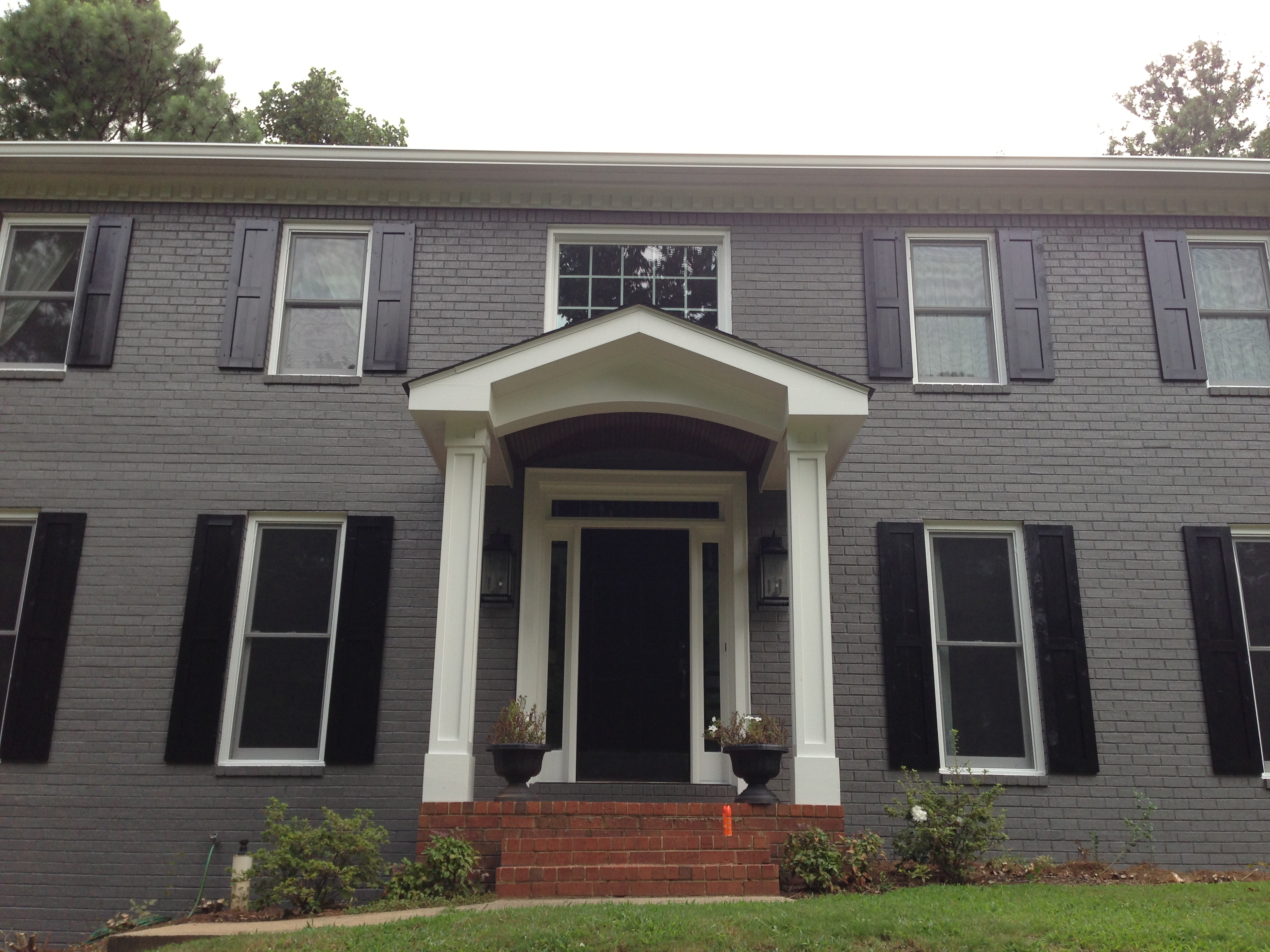 East cobb portico atlanta curb appeal for House plans with portico