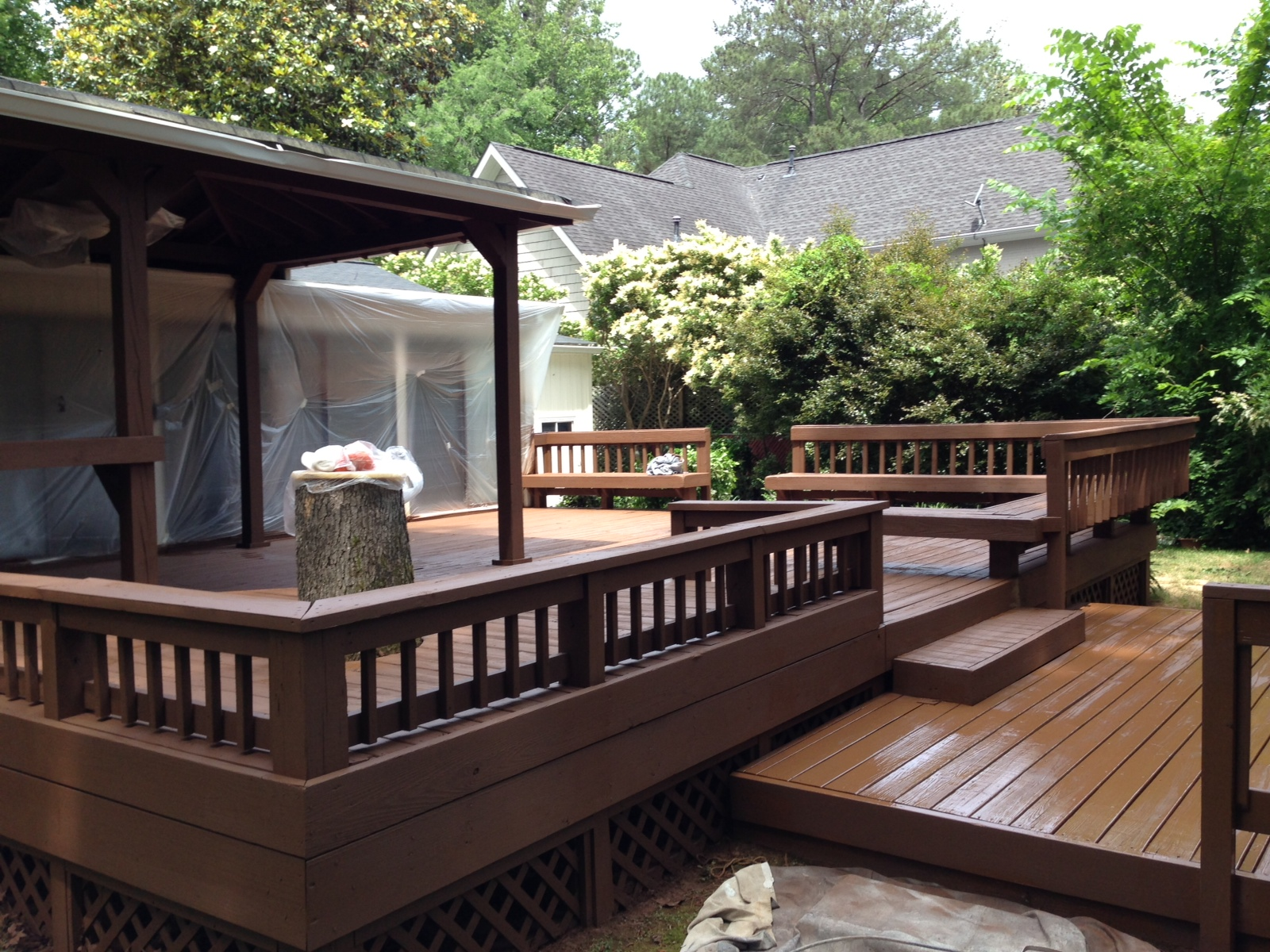Atlanta curb appeal east cobb and sandy spring bathrooms for Best timber for decking