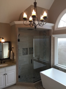 Modern Bathroom Renovation East Cobb GA Atlanta Curb Appeal